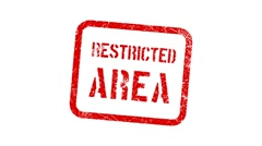 RESTRICTED AREA stamp Stock Footage
