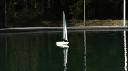 Model sailboating Stock Footage