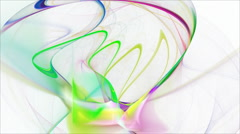 Seamless loopable abstract fractal flame HD background - stock footage