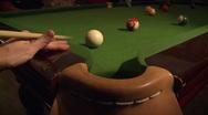 Pool table shot in a fancy saloon Stock Footage