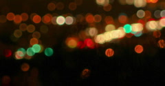 2K Vid tight Night time traffic soft-focus desert brush silhouette foreground - stock footage