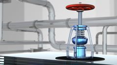 Gas tap with tubes Stock Footage