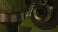 HD1080p25 CNC Machine lathe work with metal Stock Footage