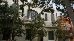 Tel Aviv Neve Zedek house P1 Stock Footage