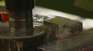 HD1080p25 CNC Machine work with metal Stock Footage