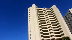 Hi-Rise Condos on A1A, Daytona beach Shores Stock Footage