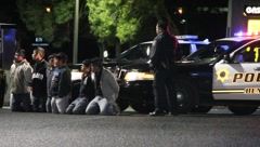 Illegal Immigrants Arrested Night - stock footage