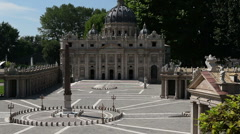 Saint Peter square and basilica Stock Footage