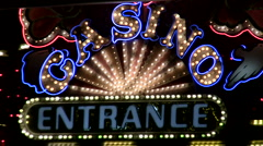 Casino entrance Las vegas V1 - HD Stock Footage