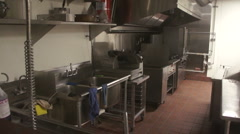 Empty Restaurant Kitchen - stock footage