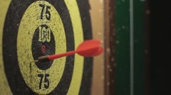 Playing Darts Stock Footage