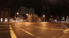City Intersection Night Timelapse Stock Footage