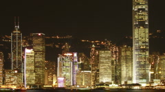 Hong Kong Symphony of Lights (zoom out) Stock Footage