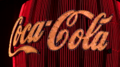 Neon Coca Cola sign V1 - HD - stock footage