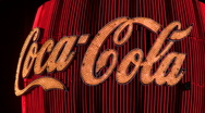 Stock Video Footage of Neon Coca Cola sign V1 - HD