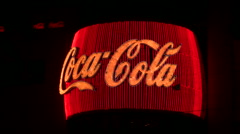 Neon Coca Cola sign V2 - HD - stock footage