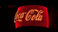 Stock Video Footage of Neon Coca Cola sign V2 - HD