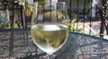 White Wine In Glass - Balcony Bar HD Footage