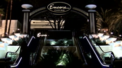 Encore hotel escalator V2 - HD Stock Footage