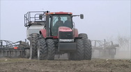 Tractor on the farm Stock Footage