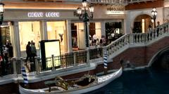 Crowd inside the Venetian Hotel in Las Vegas, Nevada, USA Stock Footage