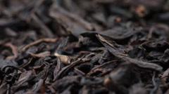 Black tea. slider shot. Stock Footage