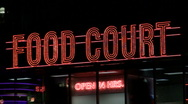 Food court sign V1 - HD Stock Footage