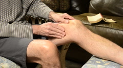 Knee pain 1 Stock Footage
