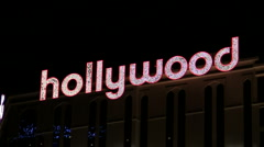 Hollywood illuminated sign - HD Stock Footage