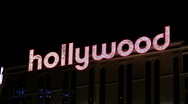Hollywood illuminated sign - HD Stock Footage