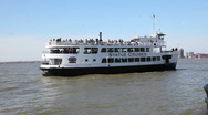 Cruiseship to Statue of Liberty Stock Footage