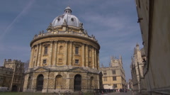The Radcliffe Camera, Oxford . Wide view Stock Footage