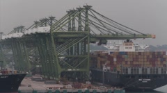 container port singapor - stock footage
