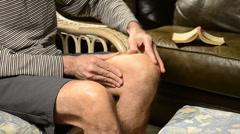 Knee pain 2 Stock Footage