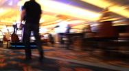 Casino Slot Machine Addict Stock Footage