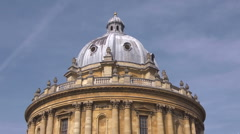 The Radcliffe Camera, Oxford with tilt down. Stock Footage