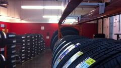 Tire Shop Stock Footage