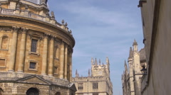 The Radcliffe Camera, Oxford with pan. Stock Footage