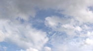 Stock Video Footage of Summer clouds