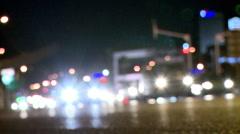 Traffic At Night - Change Focus Stock Footage