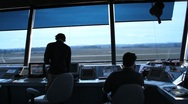 Stock Video Footage of Airport traffic control tower