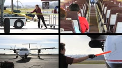 Airport Multiscreen Stock Footage