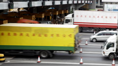 Hong Kong Harbor Tunnel Toll Booth Stock Footage