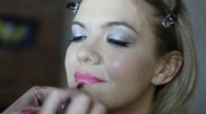 Make-up Lips Stock Footage