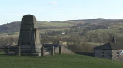 Stock Video Footage of War memorial, Reeth, Swaledale.