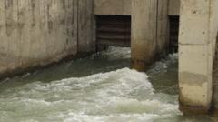 water 0001-Water gate dam - stock footage