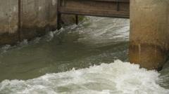 water 0002-Water gate dam - stock footage