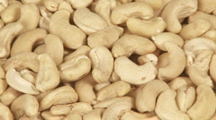 Cashew nuts close-up Stock Footage
