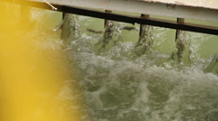 Water 0004-Water gate dam Stock Footage