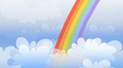 Stock Video Footage of Rainbow
